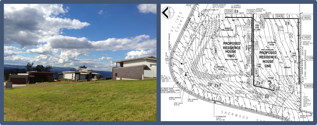 Raw site and plans